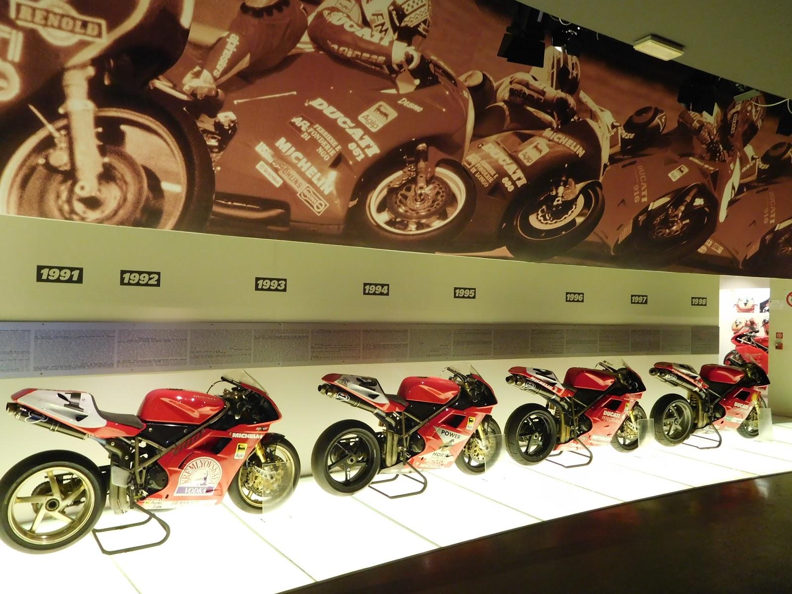 Tigh Loughhead of Gotham Ducati visits Museo Ducati in Borgo Panigale Bologna