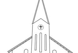 Mewarnai Gambar Gereja Katolik Gambarkakak