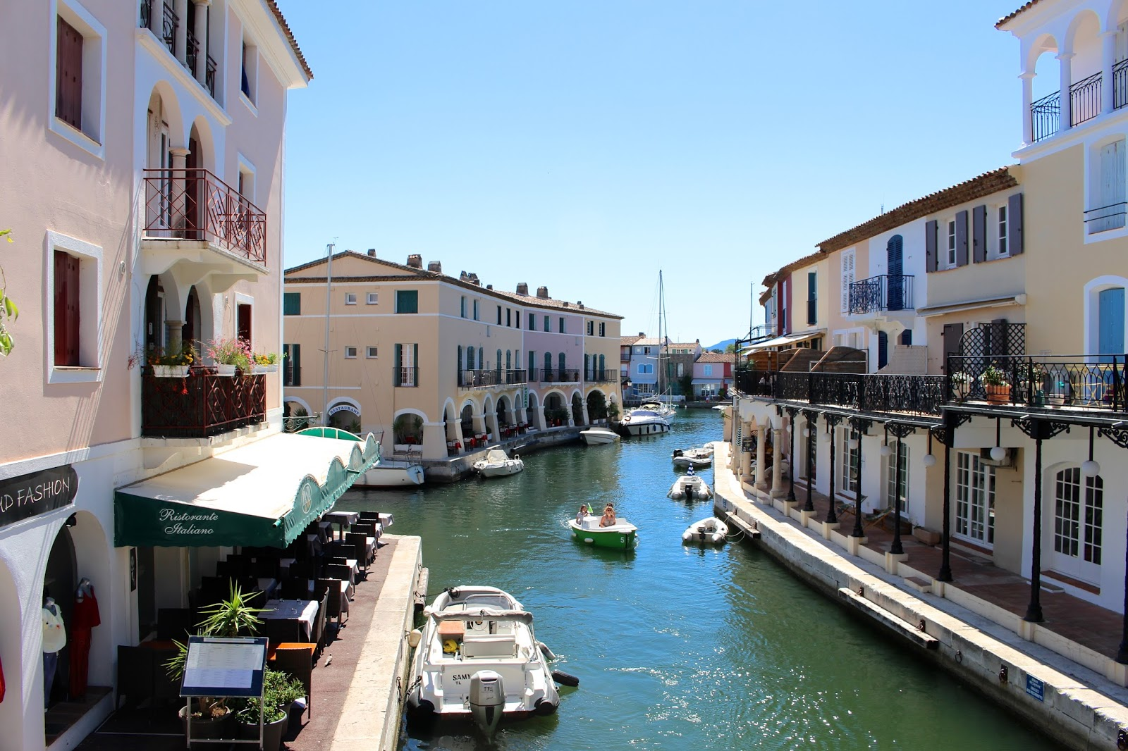 Travel blogger visit to Port Grimaud