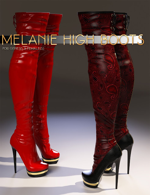Melanie High Boots for Genesis 3 Female