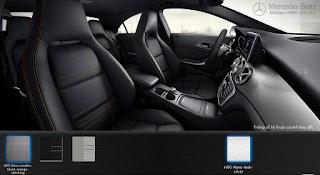 Nội thất Mercedes CLA 200 2016 màu Đen/chỉ màu Cam 363