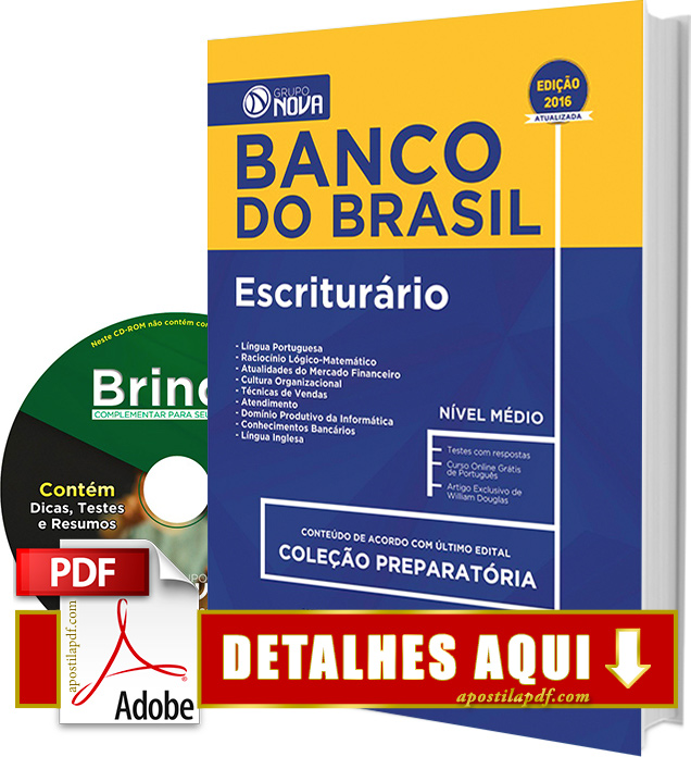 Apostila Banco do Brasil 2016 Impressa