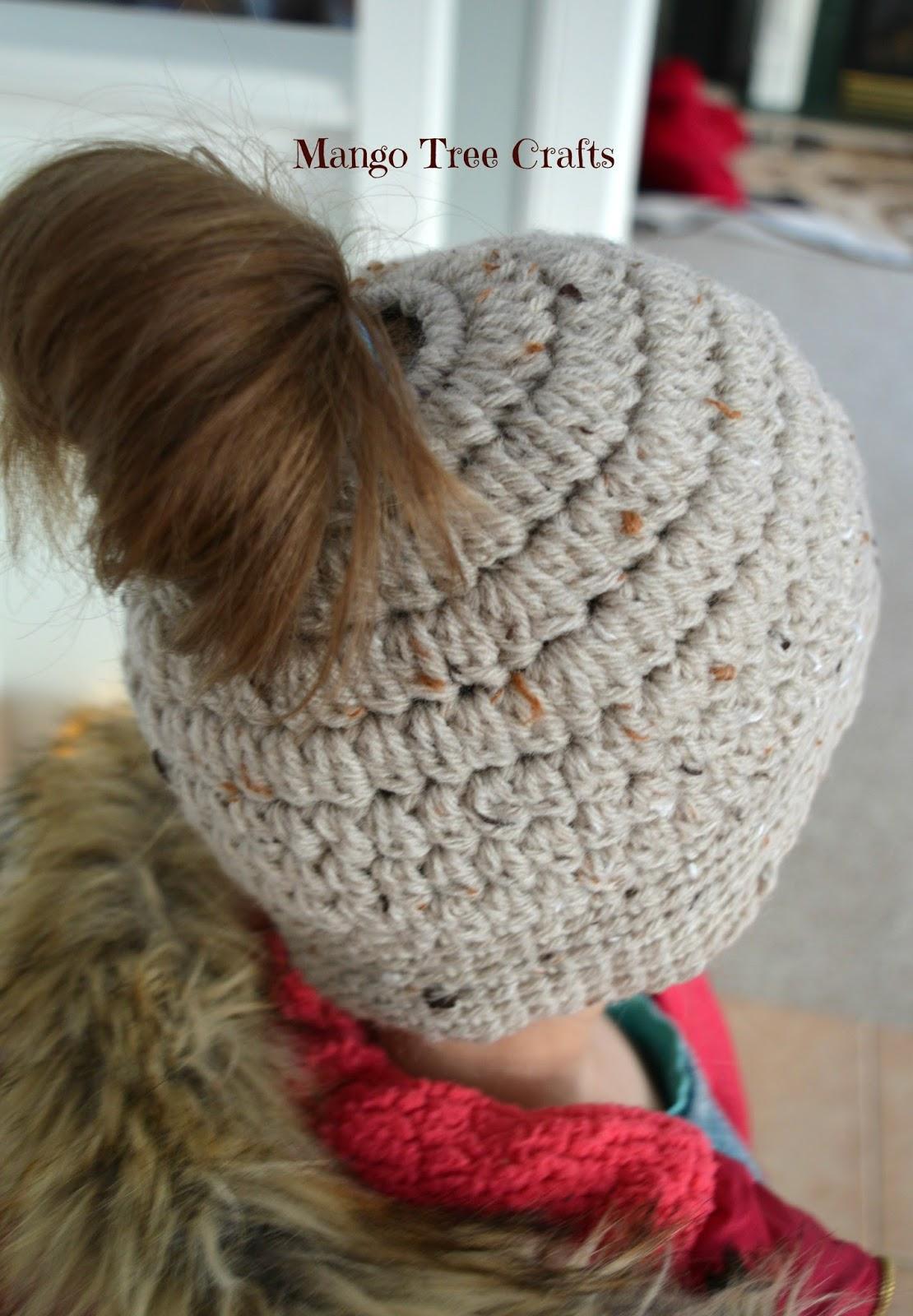 Messy Bun Hat Free Crochet Pattern Size Preteen 5cd4717e8e5