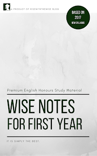 2018 ~ The Wise Notes- C U  English Honours Notes & Tutorials