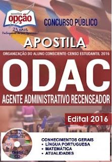 Apostila ODAC 2016 - Agente Administrativo.