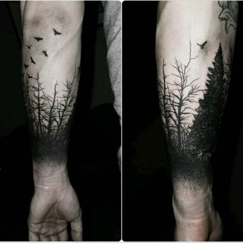 karanlık orman dövmesi dark forest tattoo