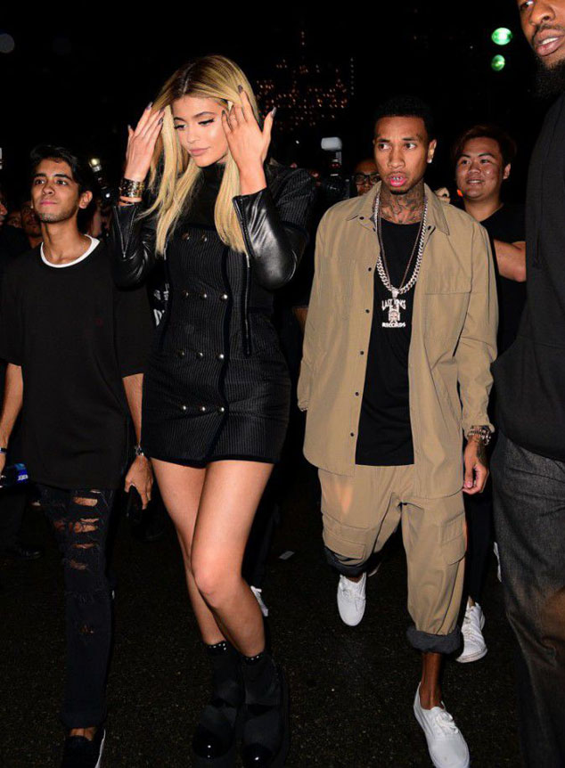 Kylie Jenner joined her boyfriend Tyga to attend the parade Alexander Wang