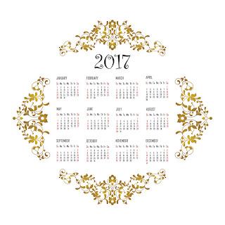 2017カレンダー無料テンプレート97