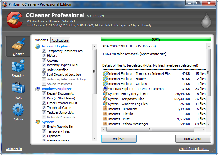 ccleaner free download for windows xp