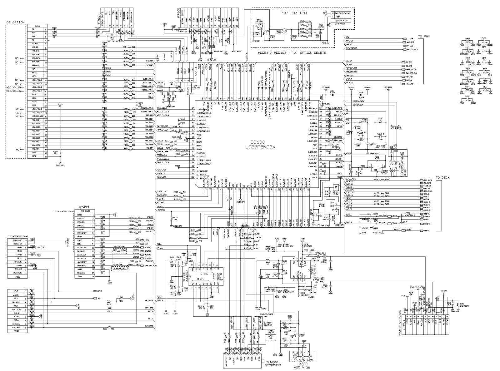 LG MCT354 - LG MCS354F/W - Mini-Component system