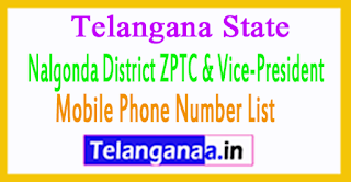 ZPTC Member  Vice-President Mobile Numbers List Nalgonda District in Telangana State