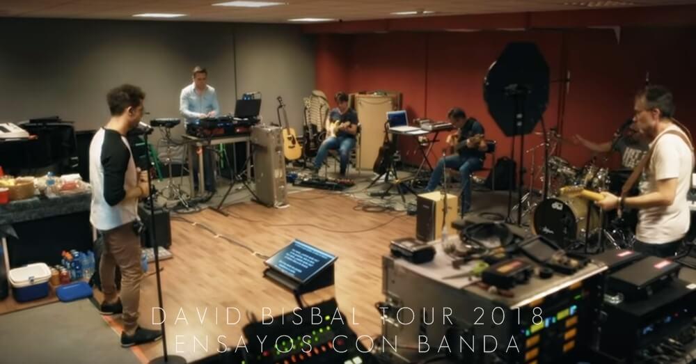 David Bisbal Tour 2018, ensayos, banda, conciertos