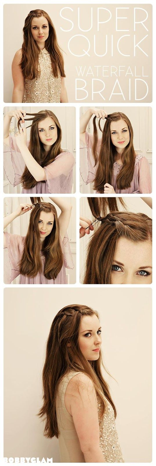 Super Quick Waterfall Braid