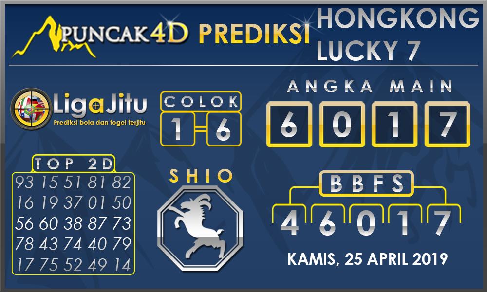 PREDIKSI TOGEL HONGKONG LUCKY7 PUNCAK4D 25 APRIL 2019