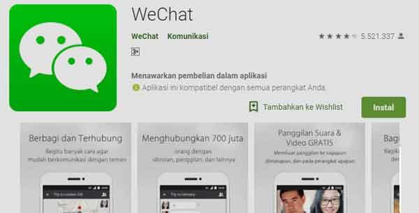 aplikasi wechat pencari cewek atau cowok jomblo secara online dan gratis