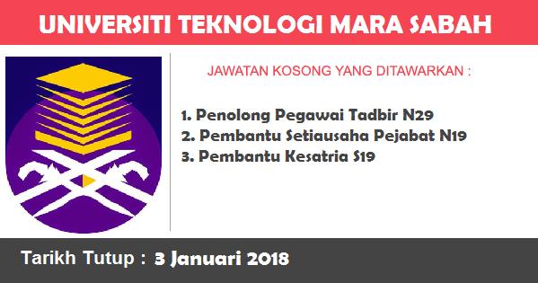 Jawatan Kosong di Universiti Teknologi Mara (UiTM) Sabah