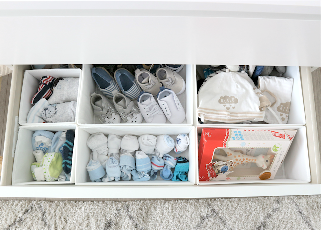organising tips for baby products in ikea drawers
