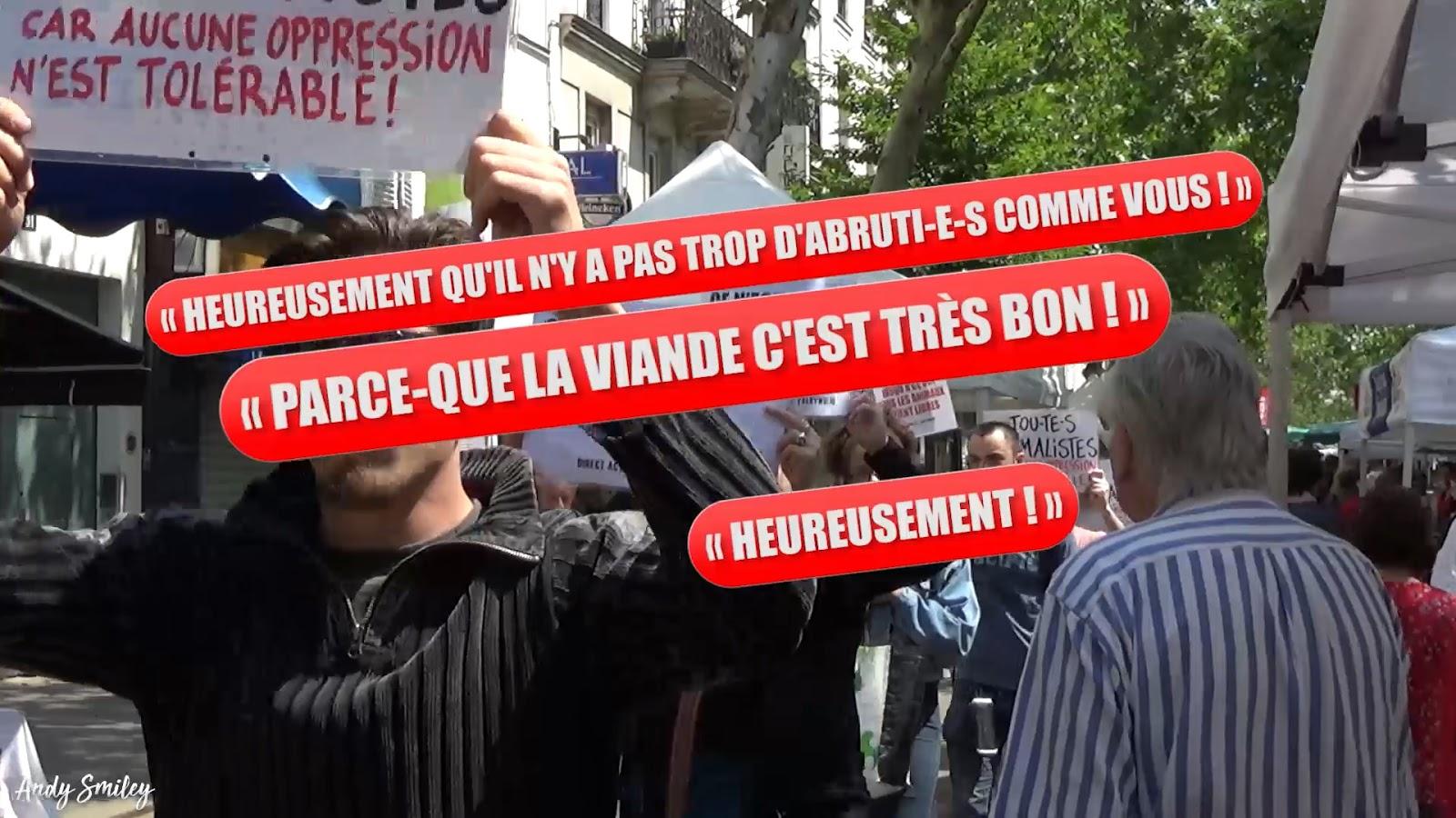 Direct Action Everywhere (Paris) - Disrupt d'un marché fermier