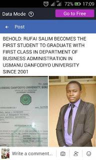 Student Breaks 17 Years First Class Records In Usman Danfodiyo University, Sokoto