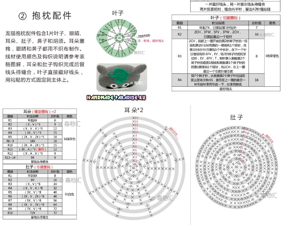 Схемы вязания подушки - мышки (2)