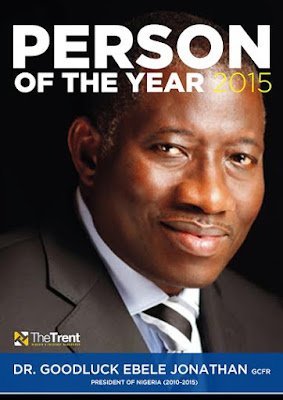 latest news The trent online names Goodluck Jonathan man of the year