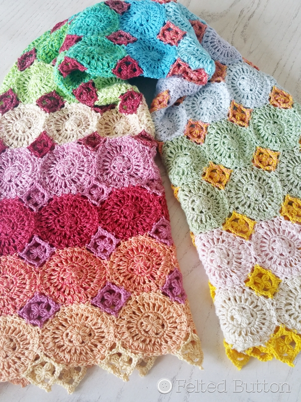 Lightfall Blanket Crochet Pattern by Susan Carlson of Felted Button
