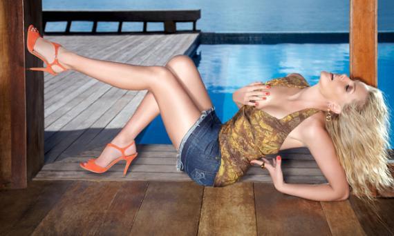 coleção de sapatos Ana Hickmann Summer Gold 2013