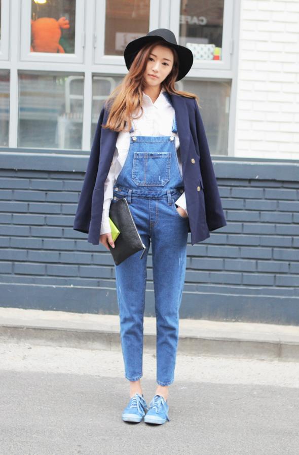 J&F Magazine: Street Style, Petos Denim / Denim Overalls