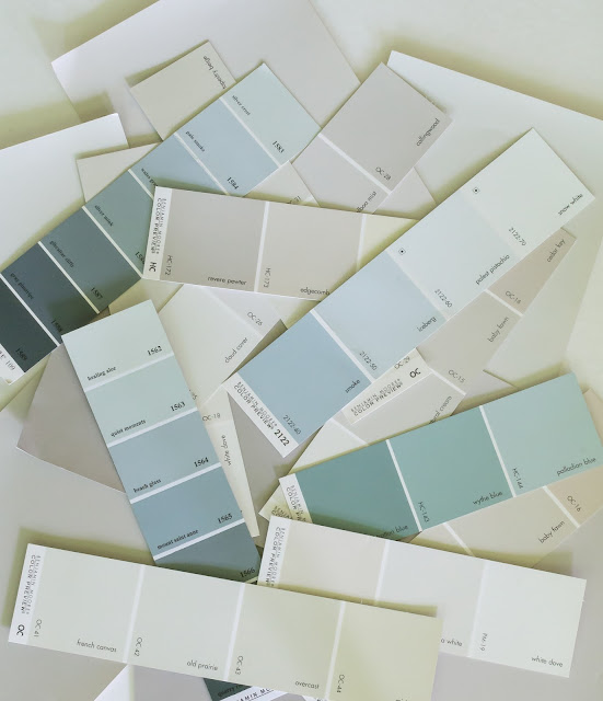 Great tips for narrowing down all those paint colors plus what NOT to do! Postcards from the Ridge