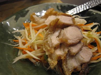 Bangkok, Nara Thai Cuisine, som tam roast pork