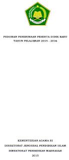 JUKNIS PPDB MADRASAH 2015/2016