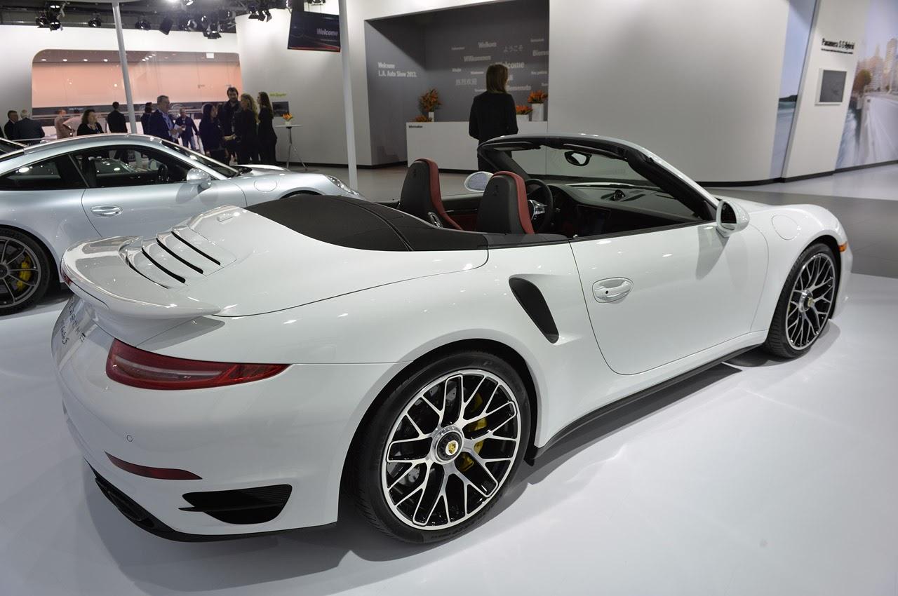 automotiveblogz 2014 porsche 911 turbo s cabriolet la 2013 photos. Black Bedroom Furniture Sets. Home Design Ideas