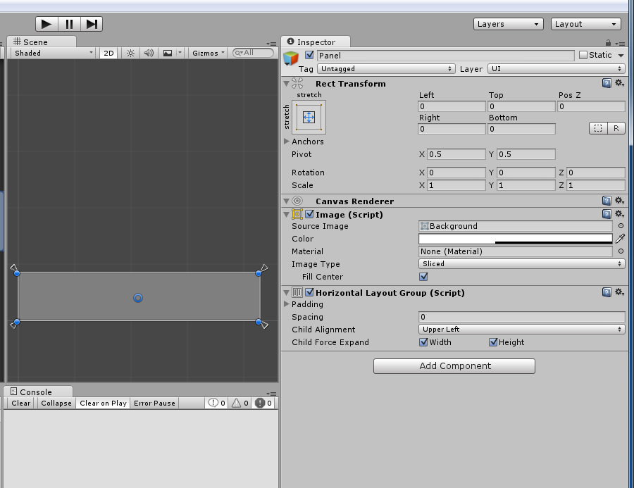 codingtrabla: Unity3D: Horizontal Layout Group - add cells
