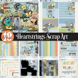 Creative Team, Annemarie, for Heartstrings Scrap Art CT -  Dads & Dudes and FREE Coordinating Mini Kit