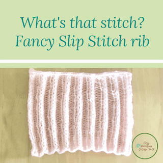 Picture of what's that stitch fancy slip stitch rib