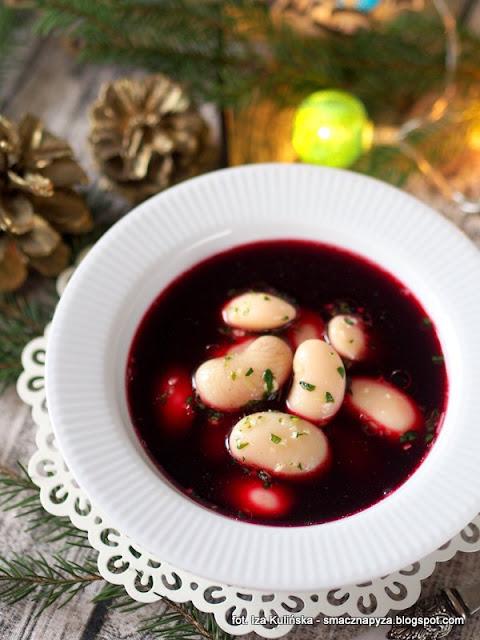 barszcz czerwony bez zakwasu, barszcz zakwaszany octem, barszcz z burakow czerwonych, potrawy wigilijne, zupa z burakow, czysty barszczyk