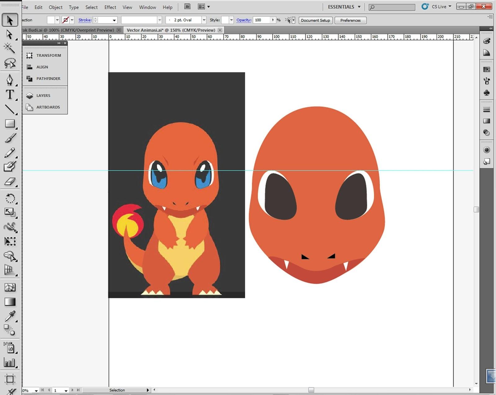 """Membuat Vektor Karakter Dengan Adobe Illustrator """"meniru"""