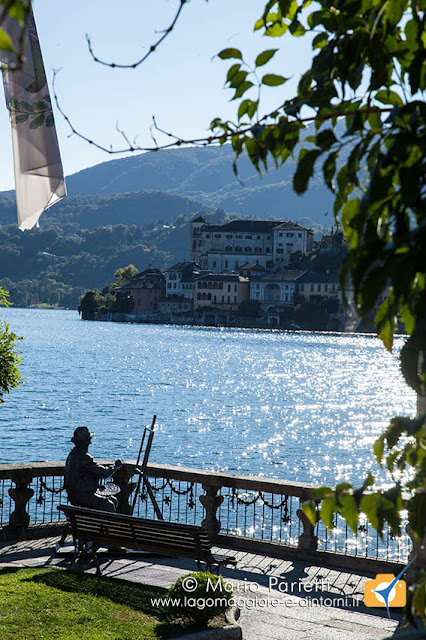 Il pittore e l'isola san Giulio ad Orta