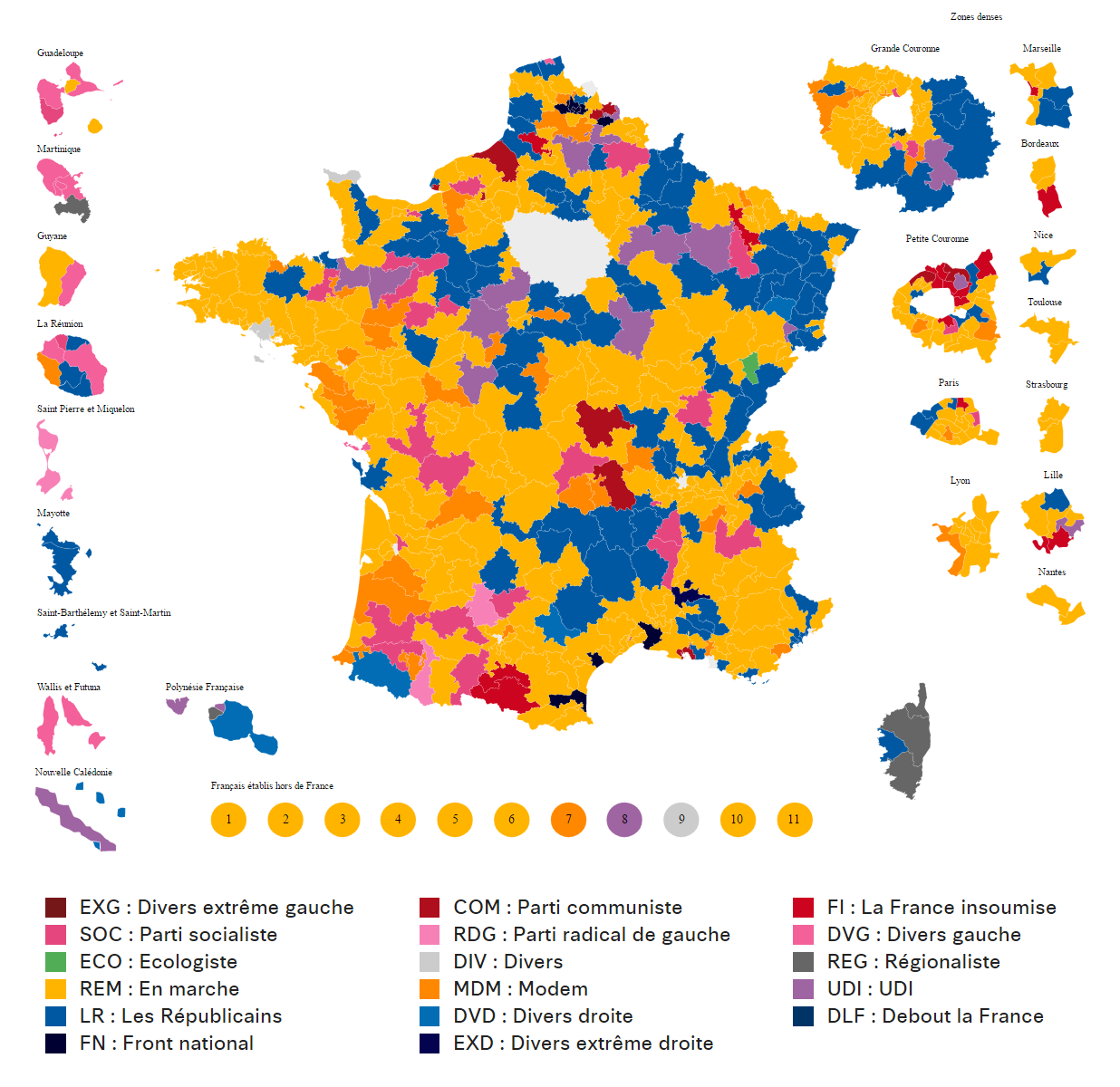 French legislative election, 2nd round (2017)