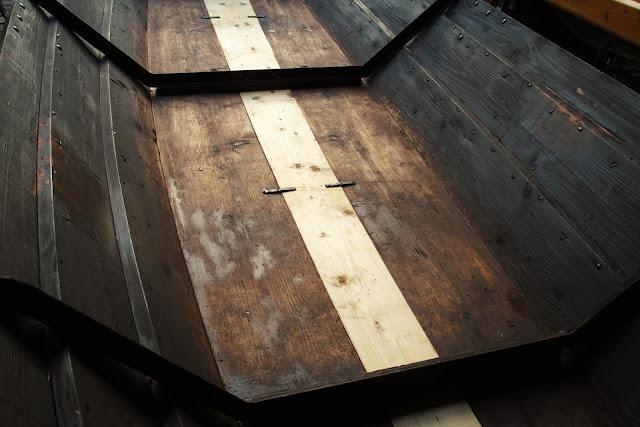 Renoverad träeka