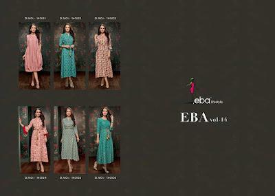 Eba lifestyle Eba Vol 14 Kurti Wholesale Catalog 14 Pcs