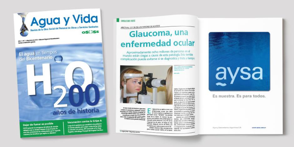 """Revista """"Agua y Vida"""" de la Obra Social de Obras y Servicios Sanitarios (OSOSS)"""