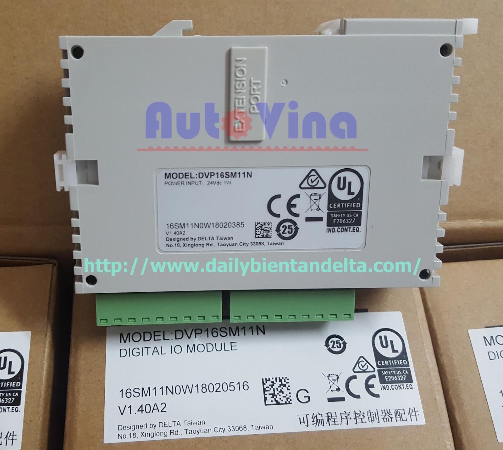 Module mở rộng ngõ vào PLC Delta 16 input DVP16SM11N, đại lý bán module mở rộng cho PLC Delta