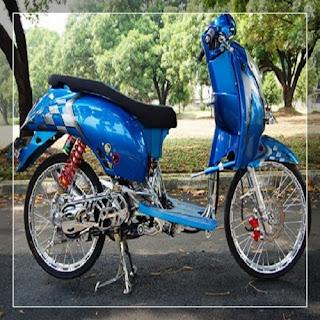 modifikasi motor scoopy warna biru