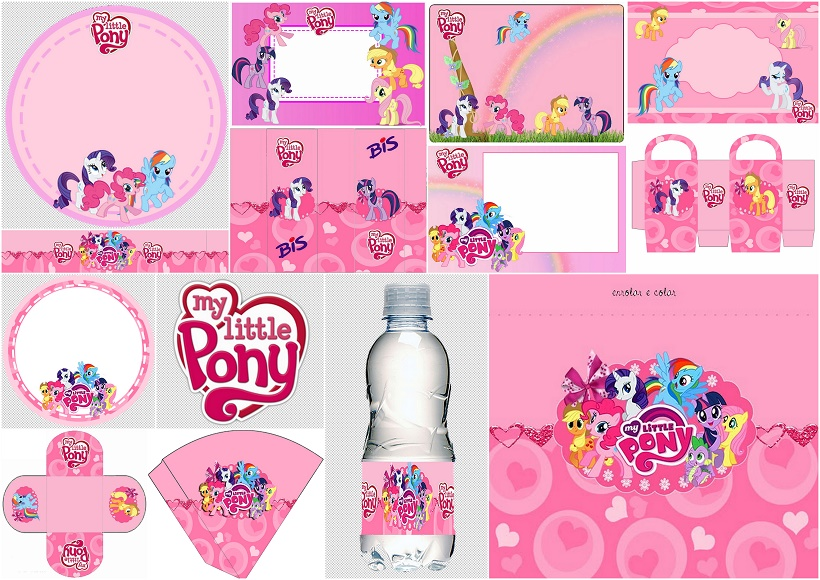 my little pony in pink free printable kit
