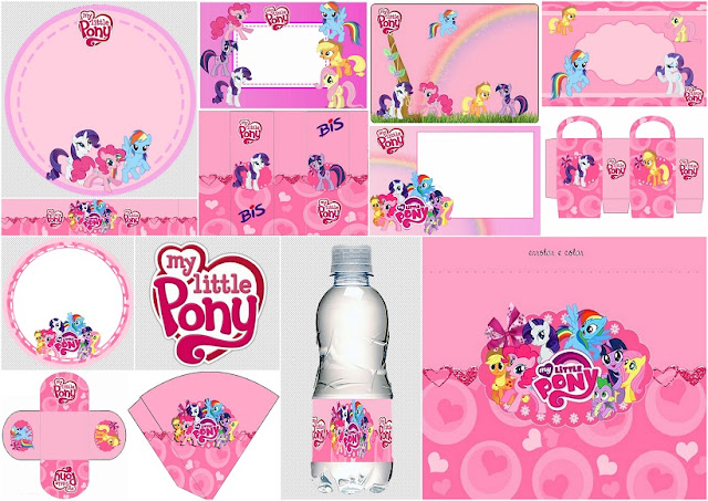 My Little Pony in Pink Free Printable Kit.