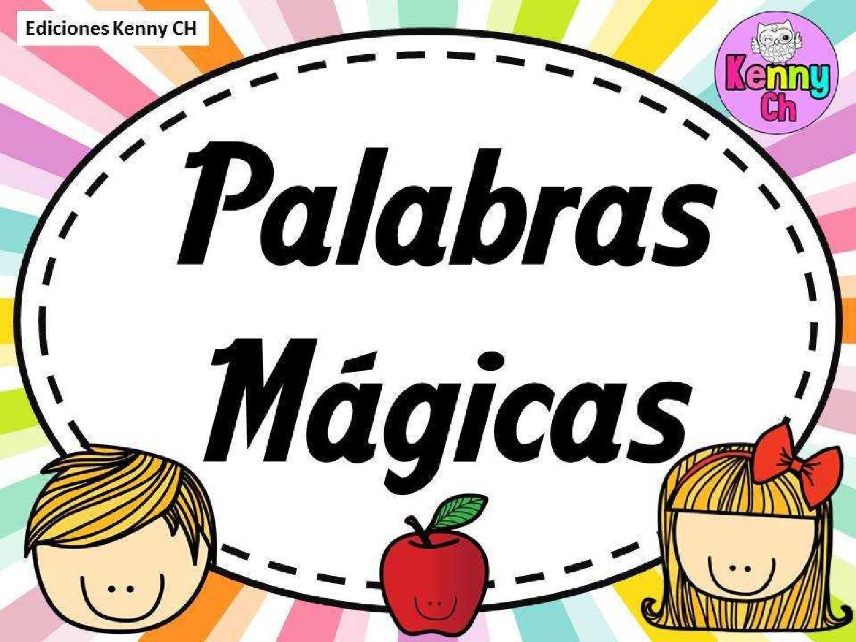 Fichas De Primaria Palabras De Cortesía
