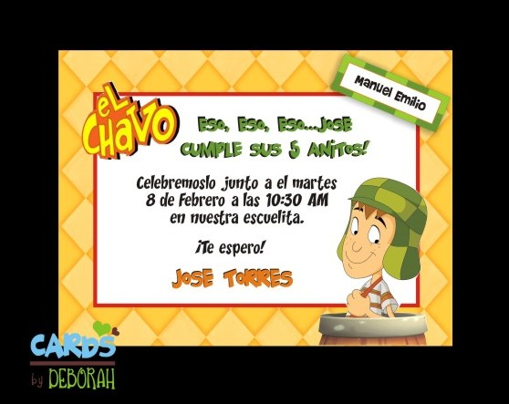 Cards by Deborah  Invitaciones Infantiles