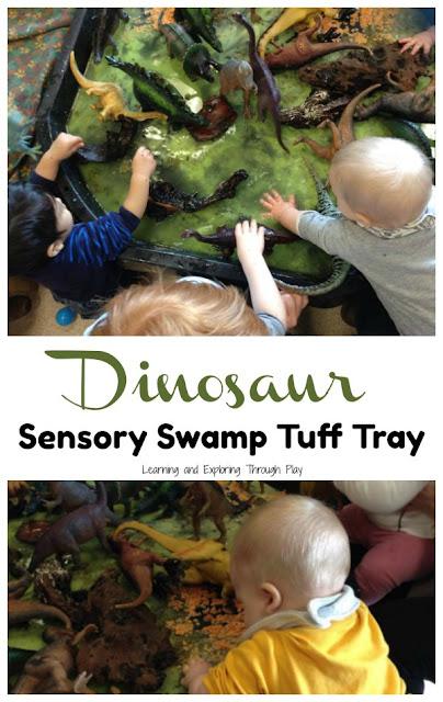 Dinosaur Sensory Swamp Tuff Tray