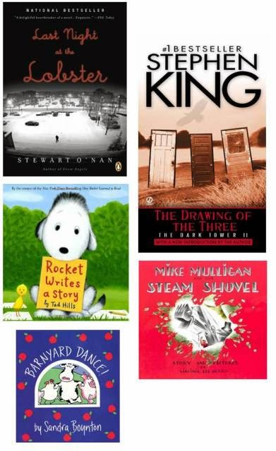 Stewart O'Nan, Stephen King, Virginia Lee Burton, Sandra Boynton, Tad Hills